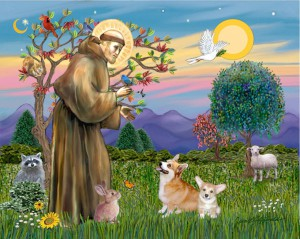 saint-francis-blesses-a-corgi-and-her-pup-jean-fitzgerald_1